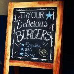 nice board outsidethe restaurant