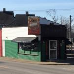 Grecco's Pizza.  Pizza slice shaped building at O street and Lincoln Avenue, Bedford, IN
