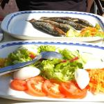 Grilled Sardines and Salad