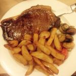 Steak and chips Mmm