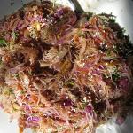 Fideos de arroz al wok