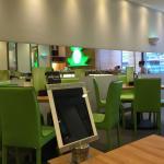 Ambiente moderno do restaurante