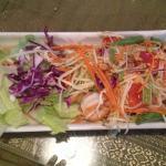 Papaya Salad w one shrimp.