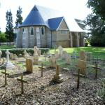 Historic graveyard behind the church