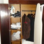 Inside the closet in the Bedroom