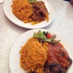 Safari beef and Kumasi chicken