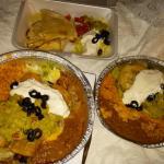 Beef Chimichanga, Beef Floutas and Cheese Quesadilla