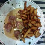 Aiguillettes de canard roulées et farcies au foie gras