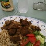 Curry goat - yum!