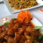 Sesame Chicken and Pork fried rice