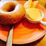 Dinkelbagel mit Butter