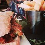 meatball sub and chips for only £6 great tasting and lovely presentation