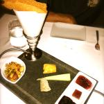 OUr cheese sampler was unforgettably delicious