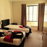 Bedroom with two beds and a double bed (4 persons)