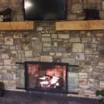 2 sided fireplace in lobby ��