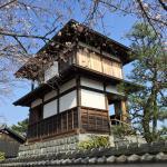 本丸櫓と桜。