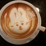 Latte art - Easter Bunny