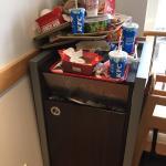 The rubbish upstairs