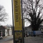 Flagge mit Bernard Werbung vor Bremer Kunsthalle