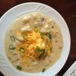 Loaded baked potato soup. Mind blowing delicious.