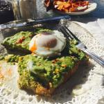 Avocado toast + poached egg