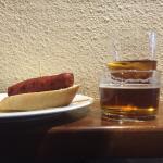 Pincho y corto de cerveza