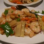 King prawn with cashew and chicken with cashew
