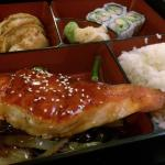 Teriyaki salmon bento lunch box