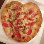 Valentines Day pizza