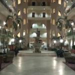 The lobby and fountain