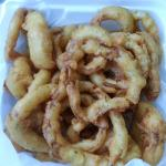 Onion Rings take out. Smells delicious!!