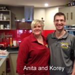 Anita and Korey in the kitchen