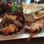 Hummer, Jacobsmuschel und Auster
