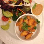 Crispy coconut prawns with dipping sauce