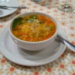 Italian vegetable soup - I added the grated cheese