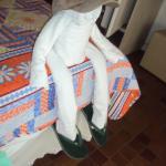 toalla con forma graciosa