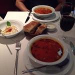 hummus and soup! 😋