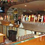 The massive selection of 38 different beers available at the bar