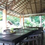 Patio where meals are served