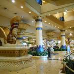Egyptian / Vegas vibe in the foyer