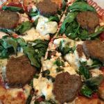 Mozzarella, Spinach, Meatballs, Goat Cheese