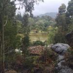 Vista desde las rocas de la laguna.