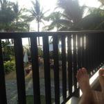 Patio overlooking Kamala beach!