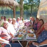 Birthday lunch at Cote TI Plage, Treignac