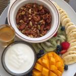 Granola / yogurt breakfast.