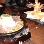 The sizzling beef is so delicious! Even the rice tastes so great after being soaked w/ steak jui