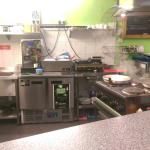 The kitchen at E1