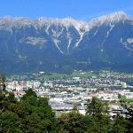 Innsbruck et la chaîne des Alpes Nordkette