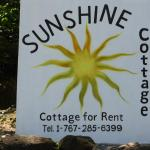 The Sunshine sign by the road