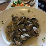 Steamed clam entree